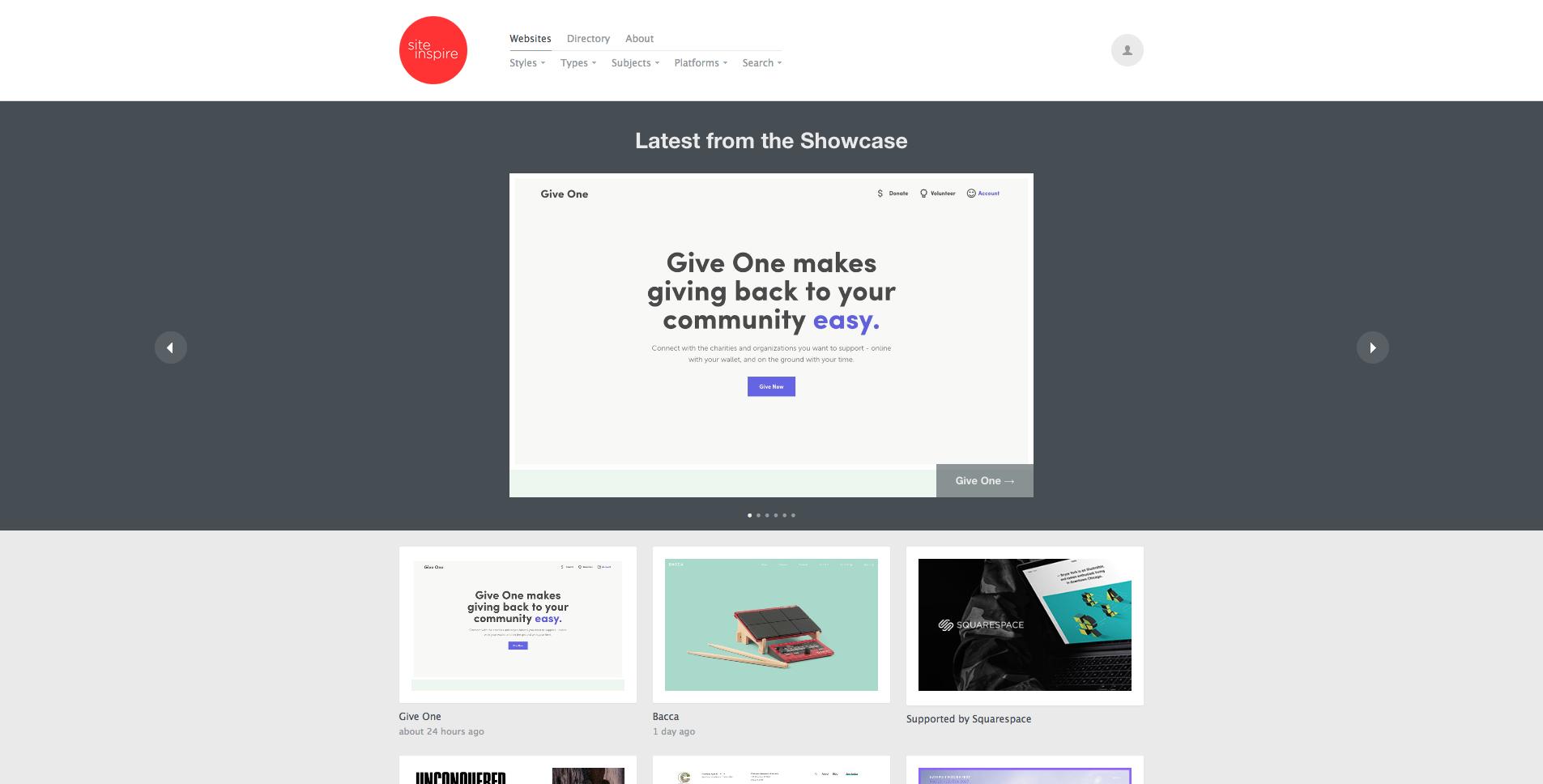 The Bumper Web Design Inspiration List. Prepare to be inspired.